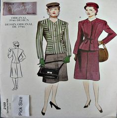 http://www.ebay.com/itm/Vogue-Sewing-Pattern-2199-40s-Vintage-Model-War-Yrs-Suit-Skirt-Jacket-Pick-Size-/221985407861?var=