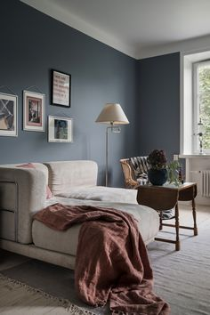 Gravity Home: Small Scandinavian Apartment in Blue & Pink