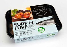 Kilmore Quays new Surf N' Turf in package. This is a combination of fresh scallops and black pudding. Frozen Seafood, Fresh Seafood, Seafood Online, Fresh Scallops, Surf N Turf, Food Suppliers, Black Pudding, Fish House, Seafood Dishes