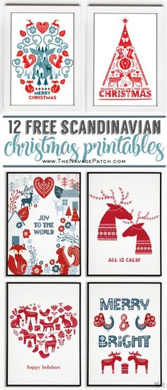 Deck your halls with some fun and beautiful Nordic whimsy this holiday season with these FREE Scandinavian Christmas Printables! Irish Christmas, Why Christmas, Plaid Christmas, All Things Christmas, Christmas Holidays, Christmas Crafts, Swedish Christmas Decorations, Norwegian Christmas, Christmas Tables