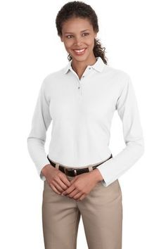 Ladies Long Sleeve Silk Touch Sport Shirt. Port Authority. $19.98
