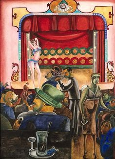 Edward Burra - Striptease, Harlem. c1934