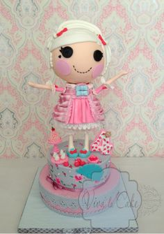"""Lalaloopsy Cake """"Suzette la Sweet"""" By lanana She is all edible. I tried Lots of new techniques including internal structure set up, hand painted"""