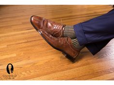 464738199822 Socks... Navy and Yellow Shadow Stripe Ribbed Socks Fil d Ecosse Cotton