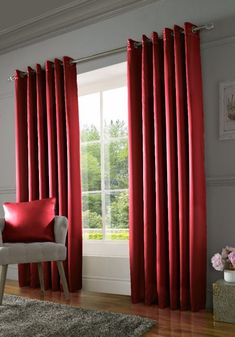 York Eyelet Room Darkening Thermal Curtains Rosdorf Park Colour: Red, Panel Size: 167 W x 182 D cm Custom Drapes, Sliding Curtains, Made To Measure Blinds, Curtains, Red Curtains, Thermal Curtains, Childrens Curtains, Bedroom Red, Outdoor Curtains