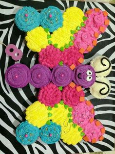Cupcake butterfly - as cupcake cakes go, this one isn't bad