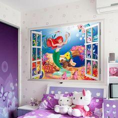 de-zeemeermin-creatieve-muursticker-kinderen-slaapkamer-muur-stickers-en-stickers-baby-kinderkamer-decor-kunst-room-decor.jpg (1000×1000)
