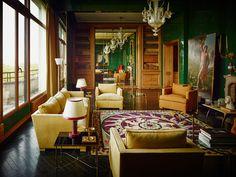 Un gout très français pour cet appartement Art Déco à Paris d'un décor original de 1948