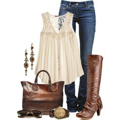 """Leather and Lace"" by cynthia335 on Polyvore"