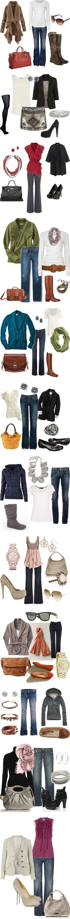 fall outfit ideas...would wear most all of these...