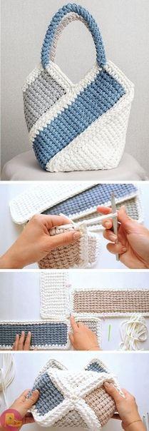 Pretty Bag Crochet Tutorial Tunesisch häkeln Related Looks de Outono Pra Testar nessa TemporadaInspiration Board: A Summer Project I can't wait to build!The Smock Stitch Crochet Tutorial Crochet World, Bag Crochet, Crochet Shell Stitch, Crochet Diy, Crochet Handbags, Crochet Purses, Crochet Ideas, Tunisian Crochet, Crochet Tutorials