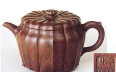 (明) 李茂林八瓣菊花壶 李茂林印-16世纪晚期 高9.6厘米,阁11.5厘米