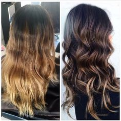 Right .. dark with soft honey accents .. brunette hair color