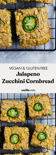 Jalapeno Zucchini Cornbread (vegan & gluten-free) – Emilie Eats Source by emilieeats Vegan Gluten Free, Gluten Free Recipes, Vegetarian Recipes, Vegan Vegetarian, Bread Recipes, Zucchini Cornbread, Bon Dessert, Dessert Ideas, Easy Vegan Dinner