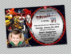 Transformers Invitation  Printable DIY Digital File by TLZDesigns