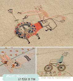Amazing embroidery by Miga de Pan - #malikoo