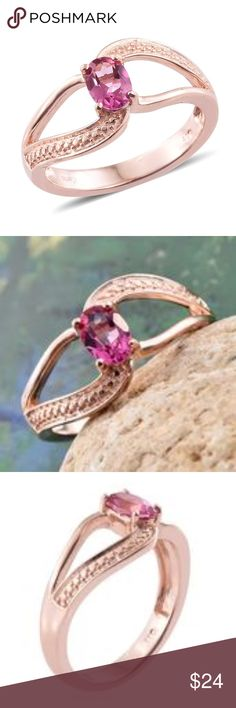 Pure Pink Mystic Topaz Open Shank Ring Pure Pink Mystic Topaz ION Plated 18K RG Brass Open Shank Ring (Size 6.0) TGW 0.95 ct. Adorn your finger with this ring and lend any casual or work attire a romantic charm. Studded with the faceted oval of pure pink mystic topaz, the piece is fashioned in ion plated 18K rose gold brass.#27/3 Finish: ION Plated 18K RG  Total Stone Weight (Carat) 0.950  Gemstone 1: Coated Pink Topaz Oval 7x5 Faceted  Metal Color: Yellow  Metal: Brass  Total Weight (grams)…