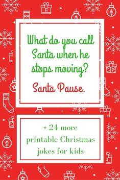 25 Printable Christmas Jokes for Kids - Kinder Weihnachten Christmas Jokes For Kids, Funny Christmas Games, Christmas Activities, Christmas Printables, All Things Christmas, Christmas Humor, Christmas Holidays, Christmas Ideas, Christmas Crafts