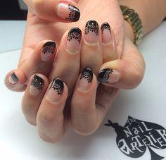 lace nail art 10 - 50  Intricate Lace Nail Art Designs   <3