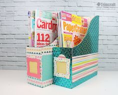 Get organised with these handy upcycled magazine storage holders following our tutorial on the blog! This is a great way to add a personalised feel to your craft desk, and you'll never have to misplace your favourite crafty magazines again…