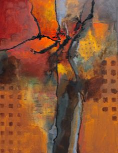 """Contemporary Artists of Colorado: """"Internal Logic"""" mixed media abstract painting by Carol Nelson Fine Art"""