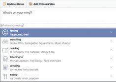 Breaking News in Advertising, Media and Technology Feeling Happy, How Are You Feeling, Facebook Status Update, Marley And Me, Watch Doctor, Top Social Media, Trey Songz, Spongebob Squarepants, Coffee Drinks
