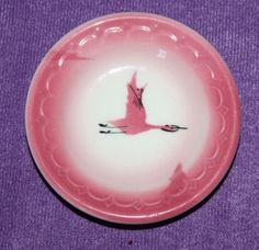 "Vintage Milwaukee Road Traveler Butter Pat 3"" Pink Geese Railroad China   eBay"