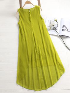 ZHI Boho Sleeveless Lace Patchwork Chiffon High Low Dresses is high-quality, see other cheap summer dresses on NewChic Mobile. Cheap Summer Dresses, Summer Dresses For Women, Simple Dresses, New Kurti Designs, Blouse Designs, High Low Chiffon Dress, Chiffon Dresses, Kurti With Jeans, Pakistani Dresses Casual