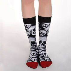 This Artistic Fashionable pair of socks make a Great Gift Idea for those who have a passion for Art...#fathers #day #gift #socks #art #artistic #love ##fashionable #style @Lalapatoot #dad #Skull #black #gotic
