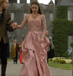 Reign, Mary 2x04 in a custom dress by the Reign costume department.