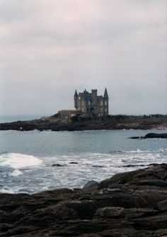 a castle by the sea