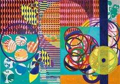 Art. Flores e Árvores, 2012-2013. Beatriz Milhazes.  Layers of energetic color and motifs make for a happy and rich composition.