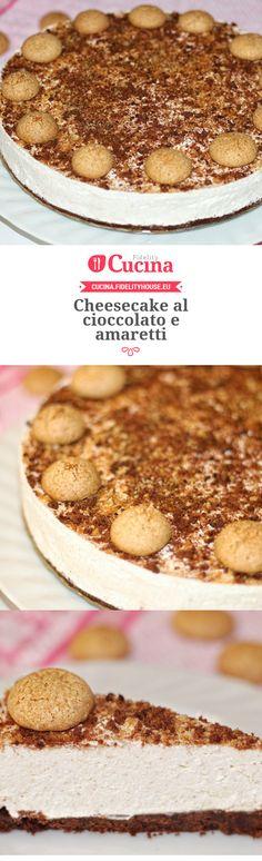 Cheesecake al cioccolato e amaretti