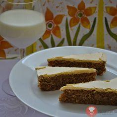 Fotorecept| Orechový koláč so žĺtkovou polevou
