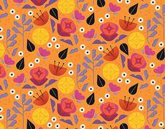 Editorial Design, Flower Patterns, New Work, Pattern Design, Behance, Gallery, Check, Illustration, Flowers