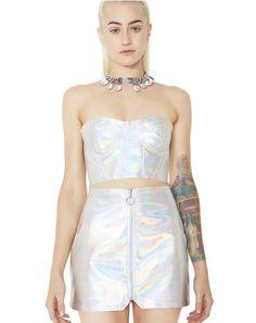 FemBot Holographic Mini Skirt