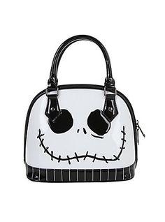 The Nightmare Before Christmas Jack Skellington Face Mini Dome Handbag,