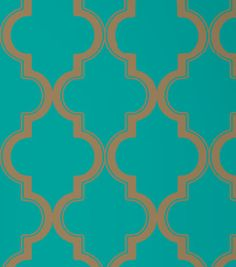 Marrakesh Removable Wallpaper, Honey Jade eclectic-wallpaper - I would like to make a stencil of this pattern and paint it somewhere . . .