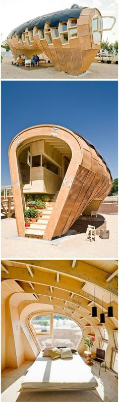 Fab Lab House from Institute of Advanced Architecture of Catalonia http://www.iaac.net/ eco-friendly house generates 3x more energy than it uses. by Ma Shopine | Tiny Homes