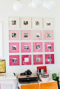 Working with #Canon to create an ombre gallery wall!