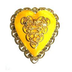 Vintage Hattie Carnegie Heart Brooch  via Etsy.