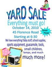 Garage Sale Flyer   pop tart coupon printable garage sale sign ...