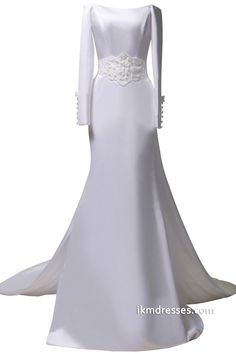 Simple Bateau A-Line Bridal Wedding Dresses with Peals http://www.ikmdresses.com/Simple-Bateau-A-Line-Bridal-Wedding-Dresses-with-Peals-p88168