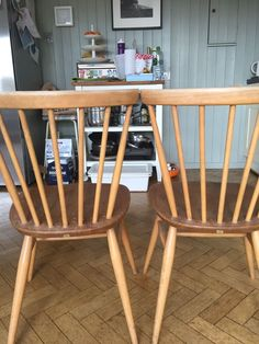 Pair Of Ercol Dining Room Chairs Ercol Furniture, Wishbone Chair, Dining Room Chairs, Home Decor, Decoration Home, Antique Dining Chairs, Room Decor, Dinner Chairs, Interior Decorating