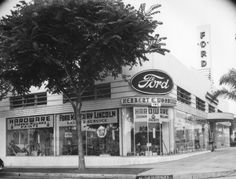 Herbert E. Woodwall Ford-Lincoln-Mercury Dealership  Hardware Store, L.A. Circa 1930's. This is Great! This place is not only a Ford Dealership, But, also a Hardware store!