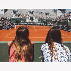 With @soniasieff in #rolandgarros  Photo @audrey.diwan Thank you @lacoste ✌️