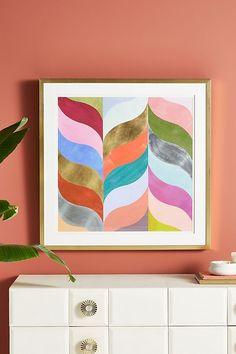 Cultivations in Color Wall Art by Anthropologie Mint, Decor Jersey Quilt, Velvet Quilt, Cat Wall, Wall Décor, Dream Wall, Office Art, Living Room Art, Modern Wall Art, E Design