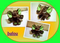 """""""BALOU """"doudou éléphant pour bébé en peluche : Jeux, peluches, doudous par 1-crochet-des-aiguilles"""