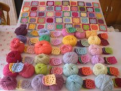 blanket and yarn