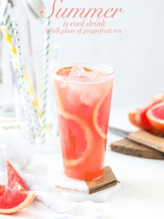 Saturday Sips: Grapefruit-Rosemary Fizz A cool, refreshing beverage that combines grapefruit with a subtle hint of rosemary. Refreshing Drinks, Summer Drinks, Fun Drinks, Beverages, Food Poster Design, Food Design, Drink Photo, New Flavour